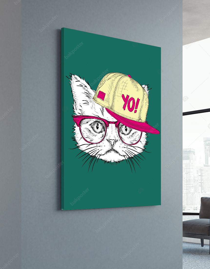 İllüstrasyon Kedi Poster