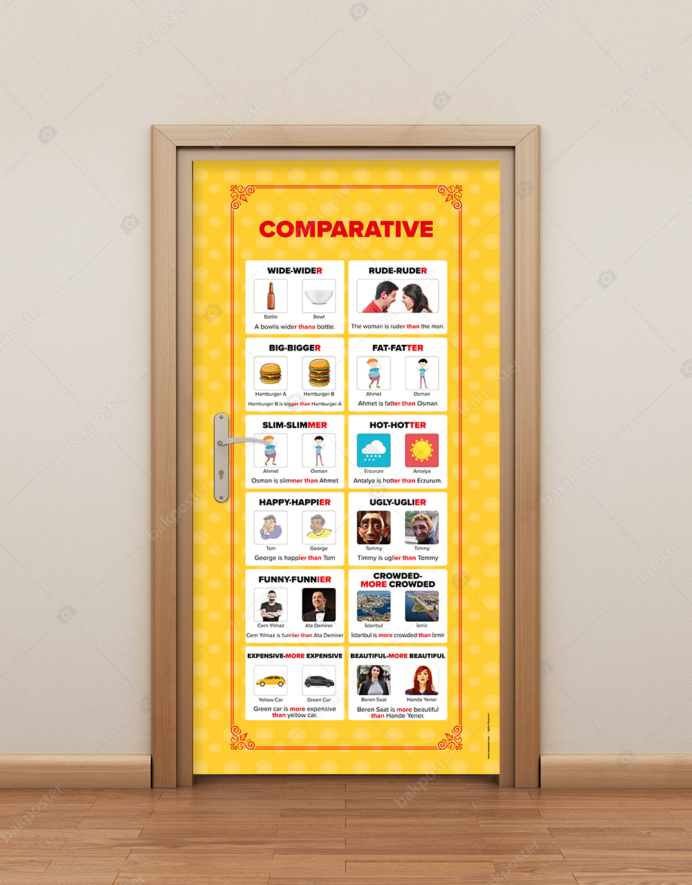 Comparative (Karşılaştırma) İngilizce Kapı Giydirme
