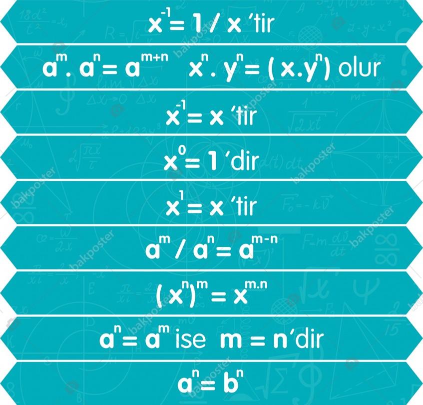 Matematik Merdiven Yapıştırma Sticker