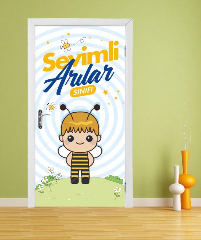Sevimli Arılar Sınıfı Anaokul Kapı Giydirme