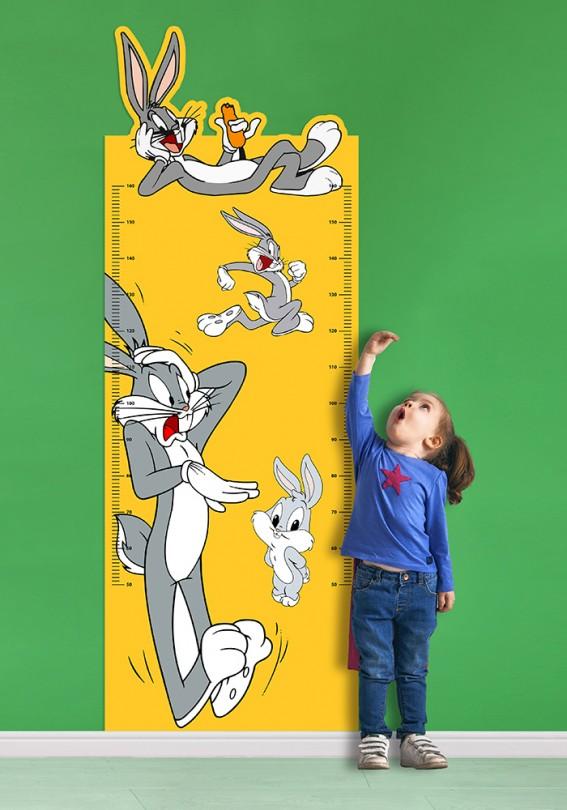 Sevimli Bugs Bunny Boy Ölçer Sticker Duvar Stickerı