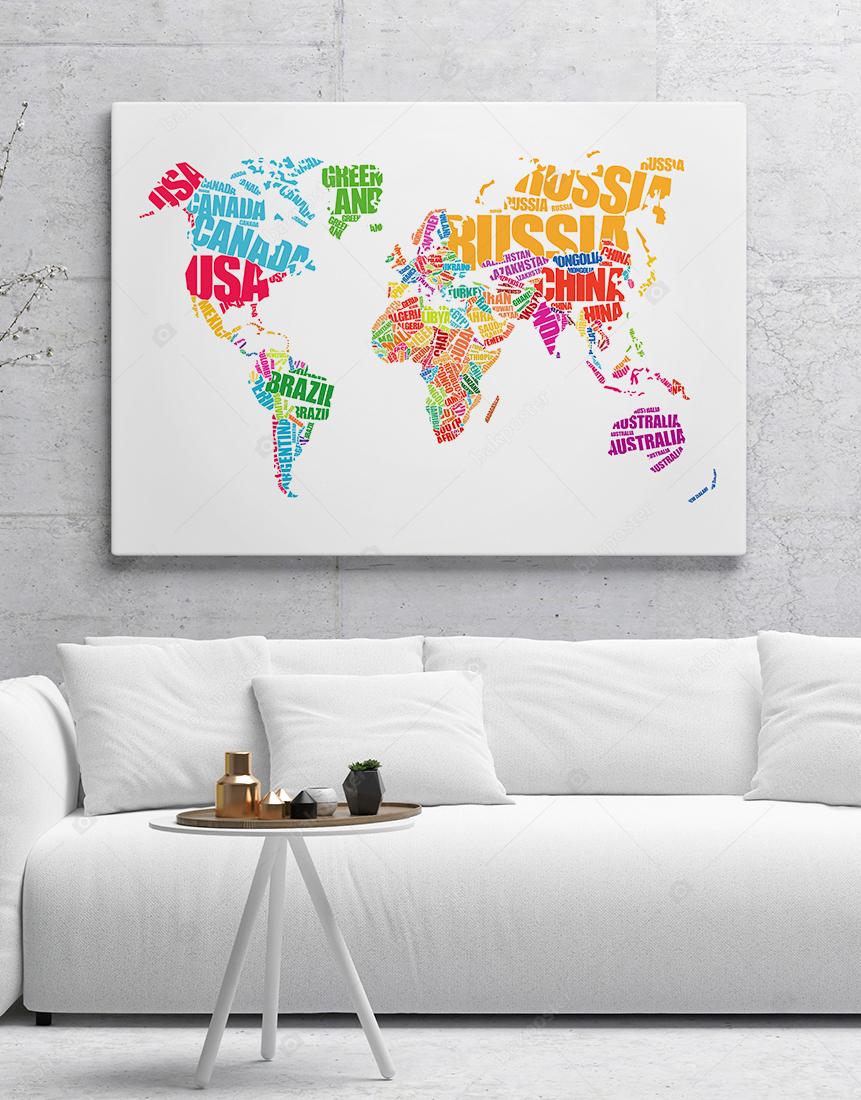 Tipografi Dünya Haritası