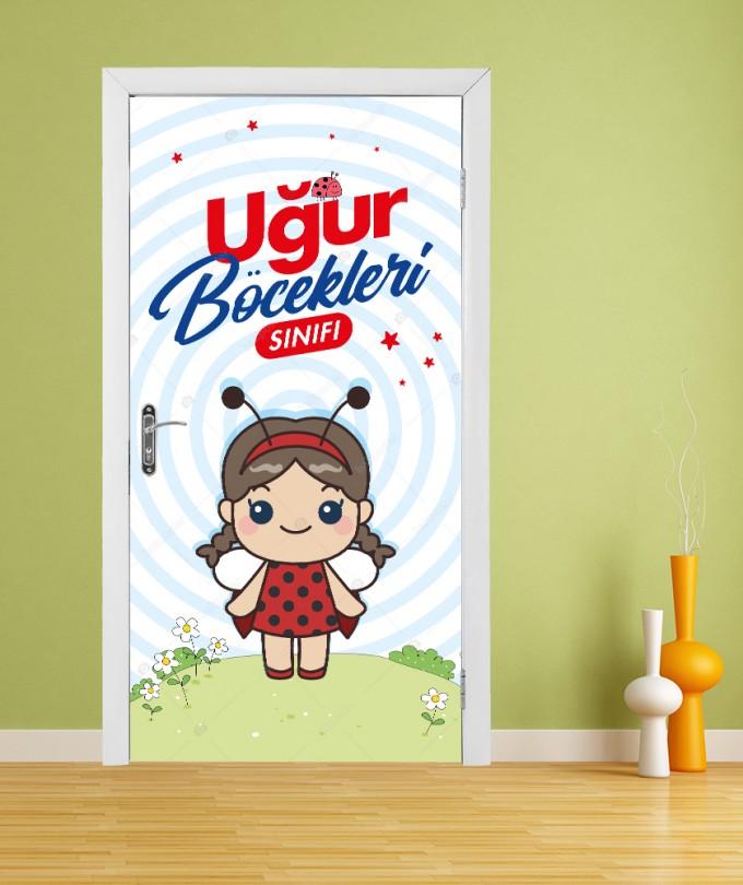 Uğur Böcekleri Sınıfı Anaokul Kapı Giydirme