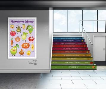 Okul Koridor Merdiven Yazıları Giydirme