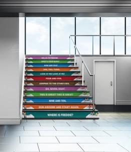 Okul Koridor Merdiven Yazıları